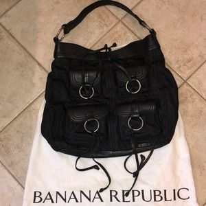 Banana Republic lightly used black hobo handbag